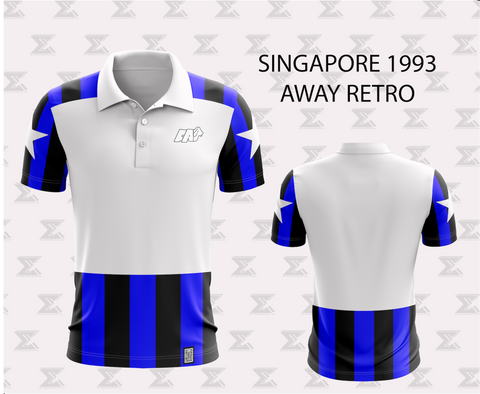 Retro 1994 Singapore Football - Away Jersey