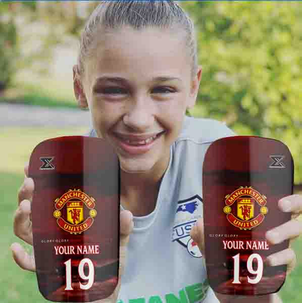 Manchester United Personalised Shinpads by Enigma