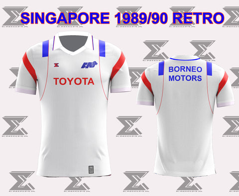 Retro 1990 Singapore Football Home Jersey