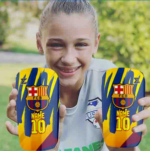 FC Barcelona Shinpads by Enigma (Personalised Name & Number)