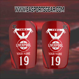 Liverpool YNWA Personalised Shinpads by Enigma