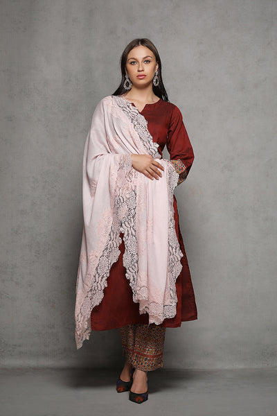 French Chantilly Lace Pashmina Shawl /Wrap - The Pashm