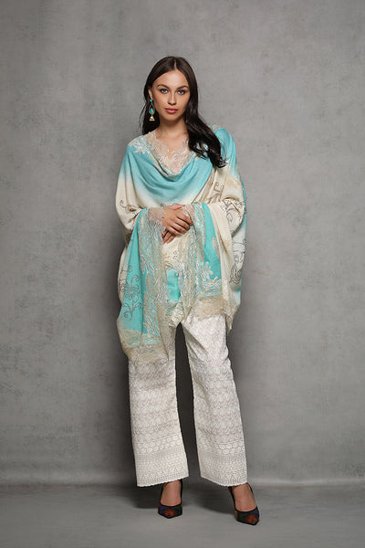 Lace and Rhinestone Cashmere Wrap - The Pashm