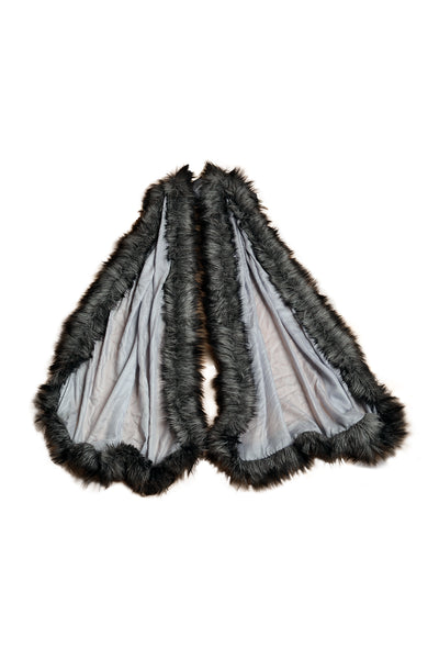 Plain Faux-Fur Wrap - The Pashm