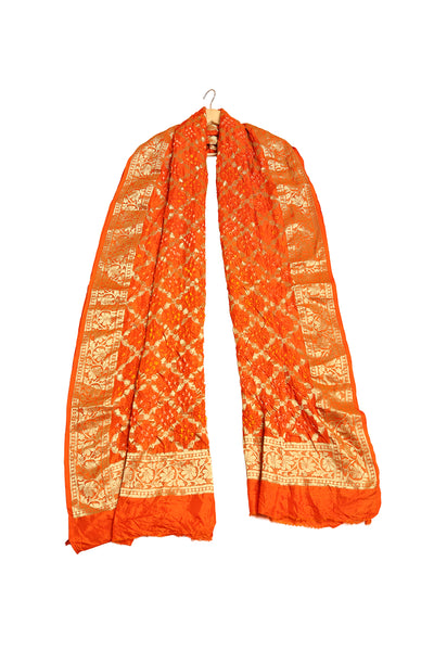 Diamond Pattern Banarasi Dupatta