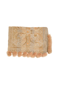 Boiled Wool Faux Fur Pompom Cashmere Wrap - The Pashm