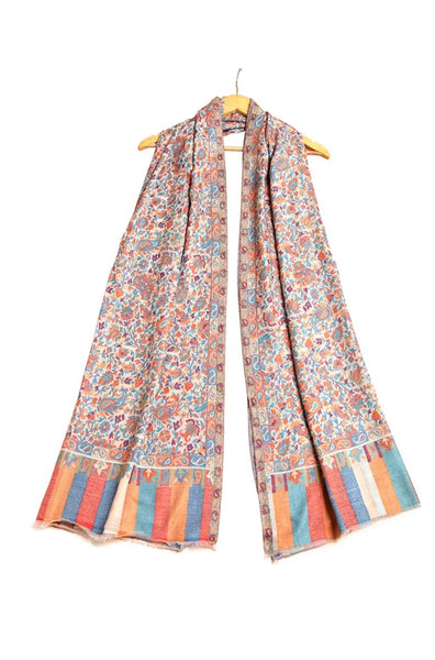 Multicolor Traditional Floral Kani Pashmina Shawl