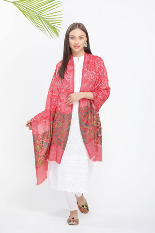 Butterfly Border Kani Pashmina Stole - The Pashm