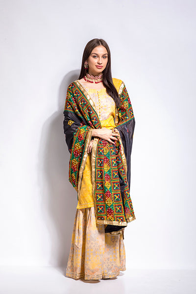 Embellished Border Phulkari - The Pashm