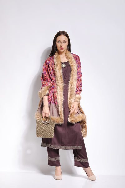 Multicolor Rustic Wrap - The Pashm