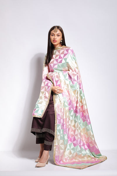 Pastel Phulkari - The Pashm