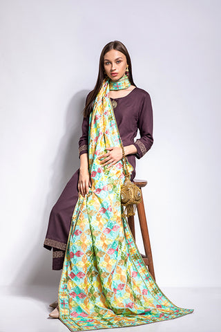 Floral Embroidery Fulkari - The Pashm