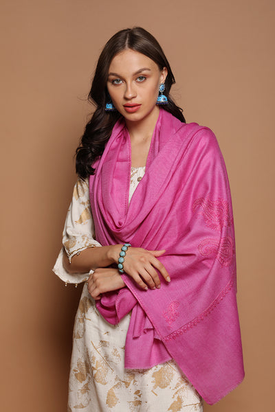 Paisley Embroidered Wrap - The Pashm