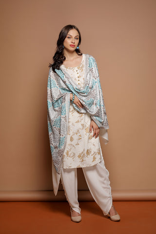 Paisley Diamond Nalki Pashmina Shawl - The Pashm
