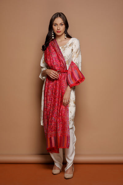 Floral Silk Kani - The Pashm
