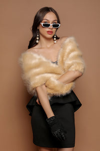 Faux-Fur Cape - The Pashm