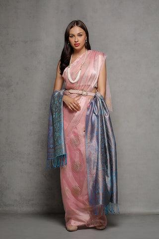 Ombre Blue Silk Wrap - The Pashm