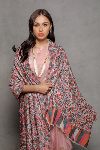 Multicolor Floral Kani - The Pashm