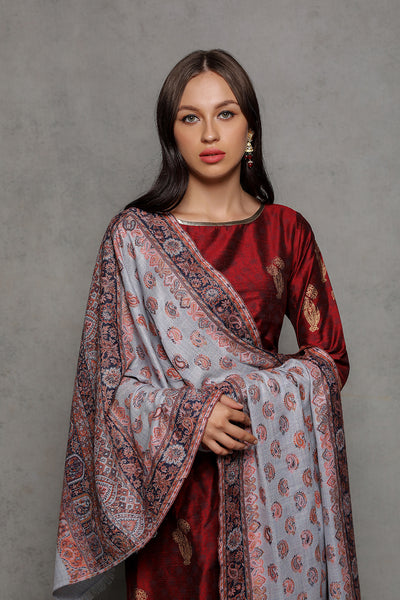 Royal Motif Wrap - The Pashm