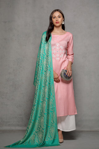 Silk Jacquard Paisley Wrap - The Pashm