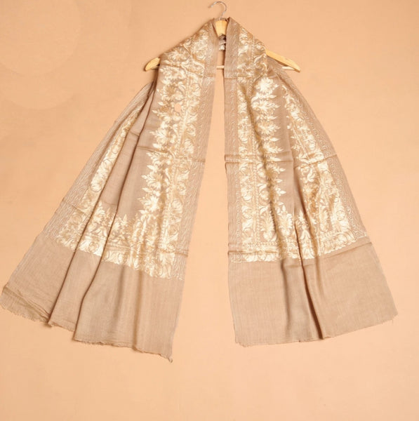 Silk Embroidery Wrap - The Pashm