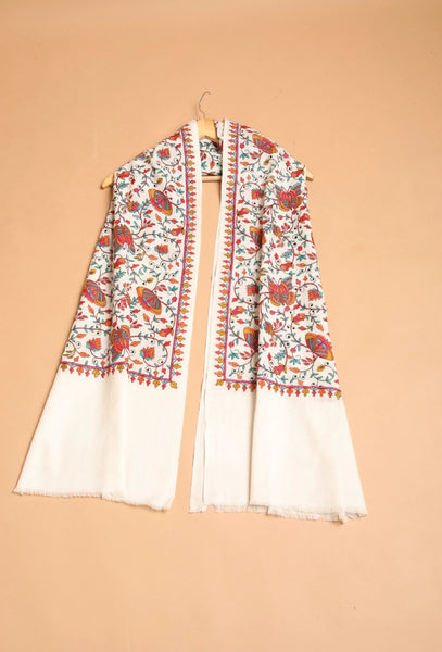 Butterfly Embroidery Pashmina Stole - The Pashm