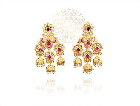 Zubaida Traditional Indian Earrings - The Pashm