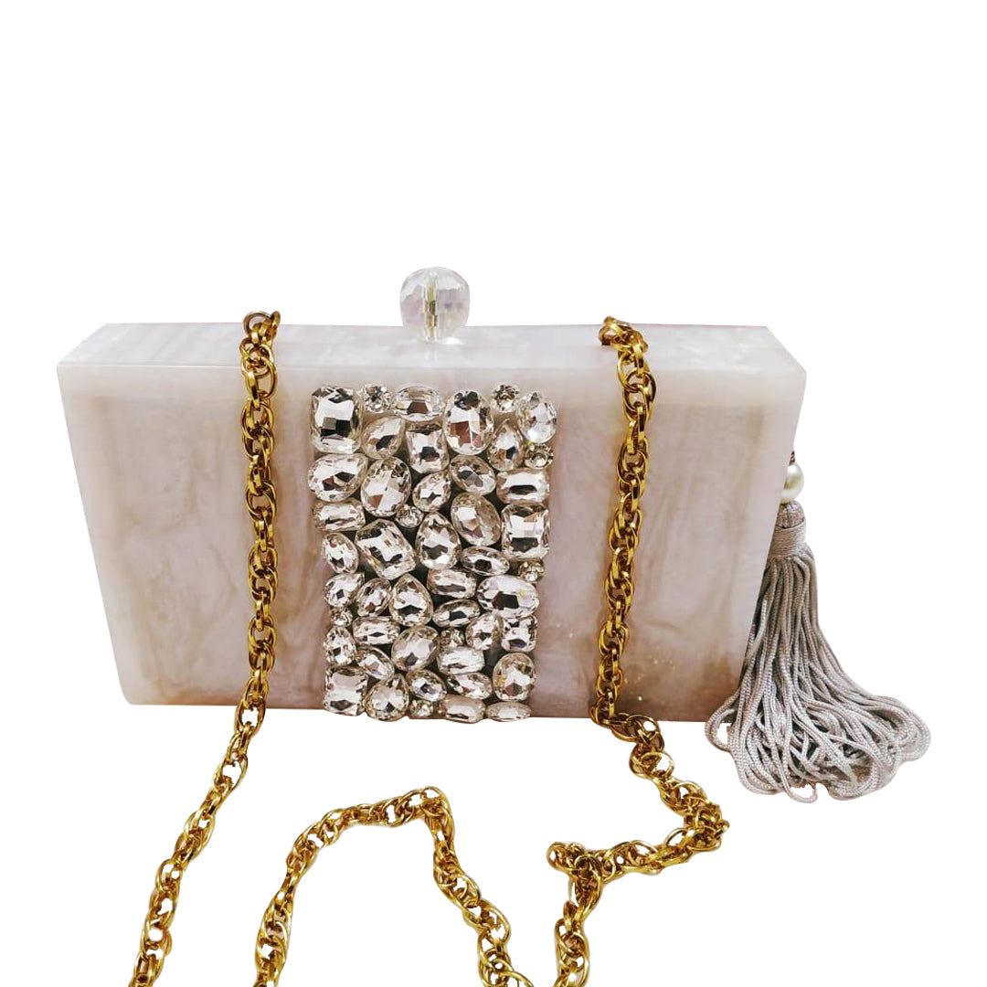 Resin Stone Embellished Bag - The Pashm