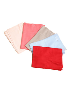 Plain Semi Pashmina Wraps