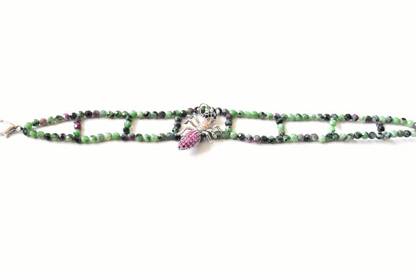 Watermelon Tourmaline Bracelet - The Pashm