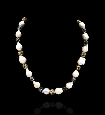 Mireya Baroque Pearl Necklace - The Pashm