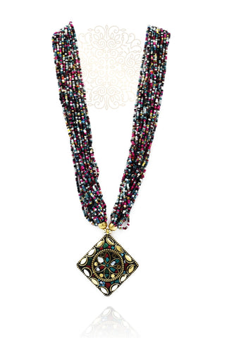 Kalinda Multicolor Beaded Masai Necklace - The Pashm