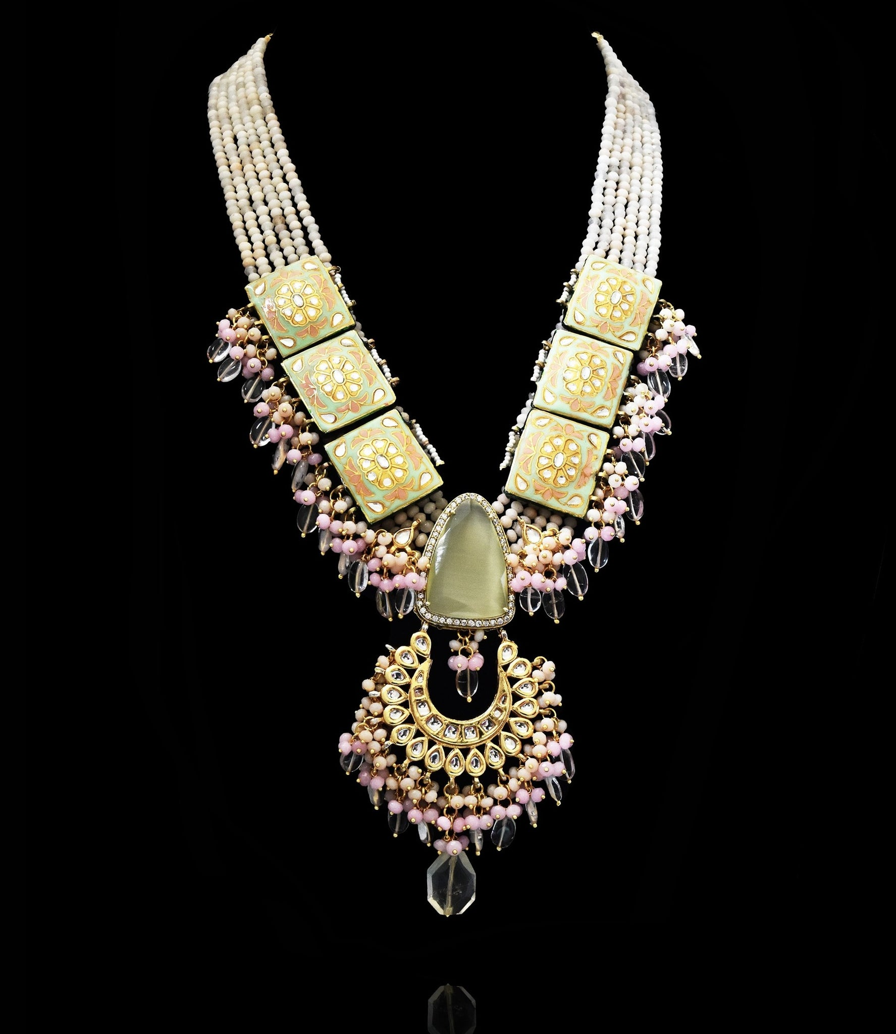 Farzana Handpainted Necklace Set - The Pashm