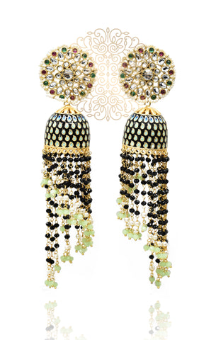 Zeeva Bead Tassel Earrings - The Pashm