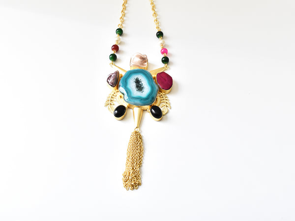 Multicolor Natural Stones Necklace
