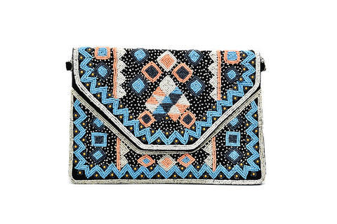 Cadence Aztec Bead Bag - The Pashm