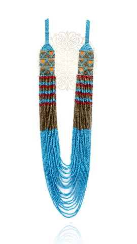 Sasha Hand Knitted Bead Necklace - Golden
