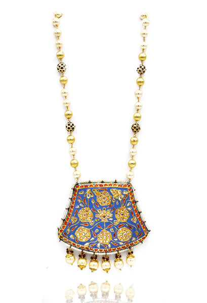 Gayatri Reversible Necklace Set - The Pashm