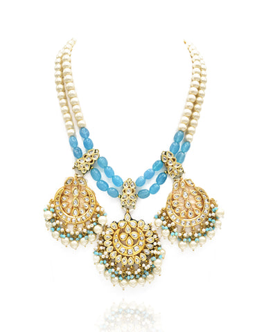 Jasleen Kundan Haar Set - The Pashm