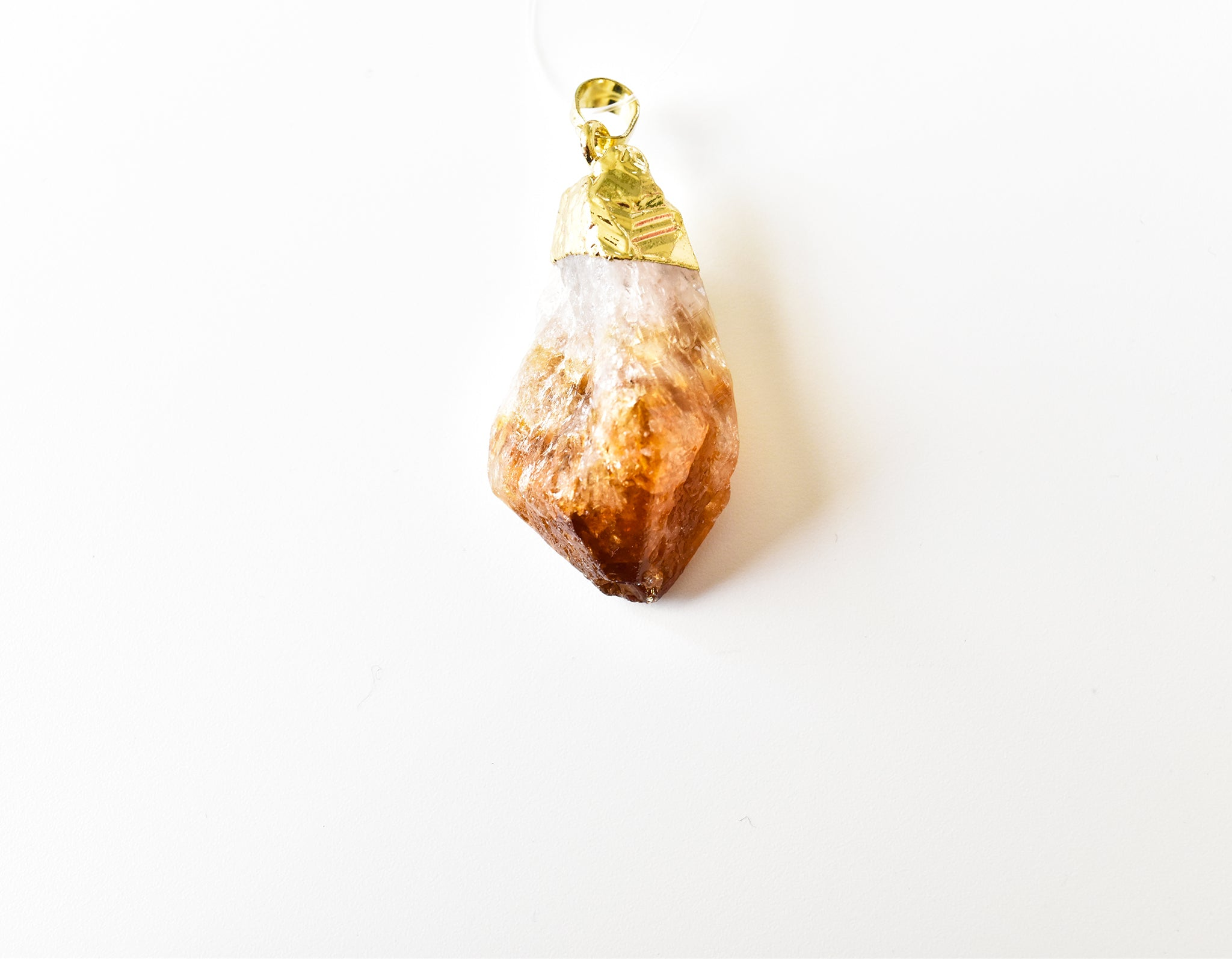 Raw Citrine Pendant