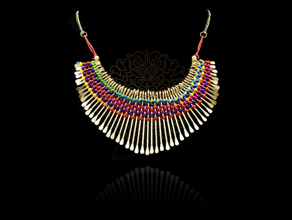 Ellery Spiked Colorful Necklace - The Pashm