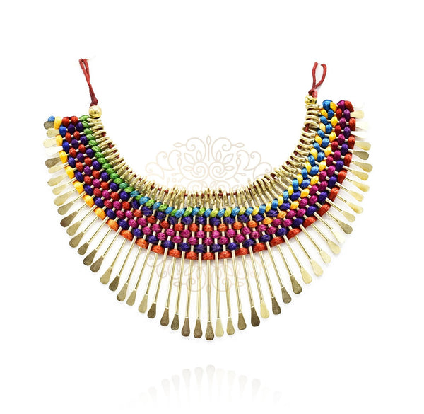 Ellery Spiked Colorful Necklace
