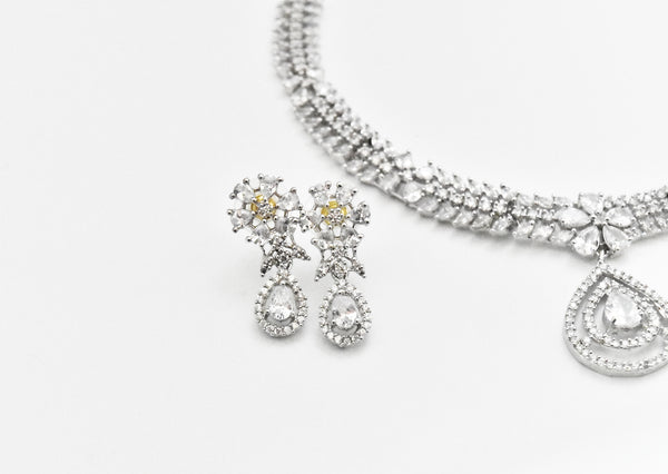 Claire CZ Necklace Set - The Pashm