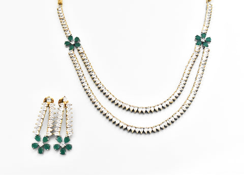 Fleur Emerald Necklace Set - The Pashm
