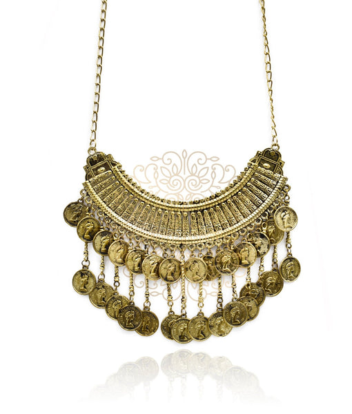 Adele Boho Coin Necklace - The Pashm