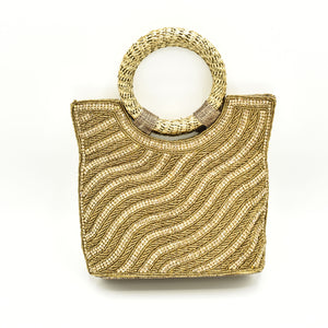 Wavy Crystal Pearl Bag - The Pashm