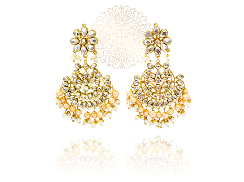 Laila Kundan Earrings and Tikka Set - The Pashm