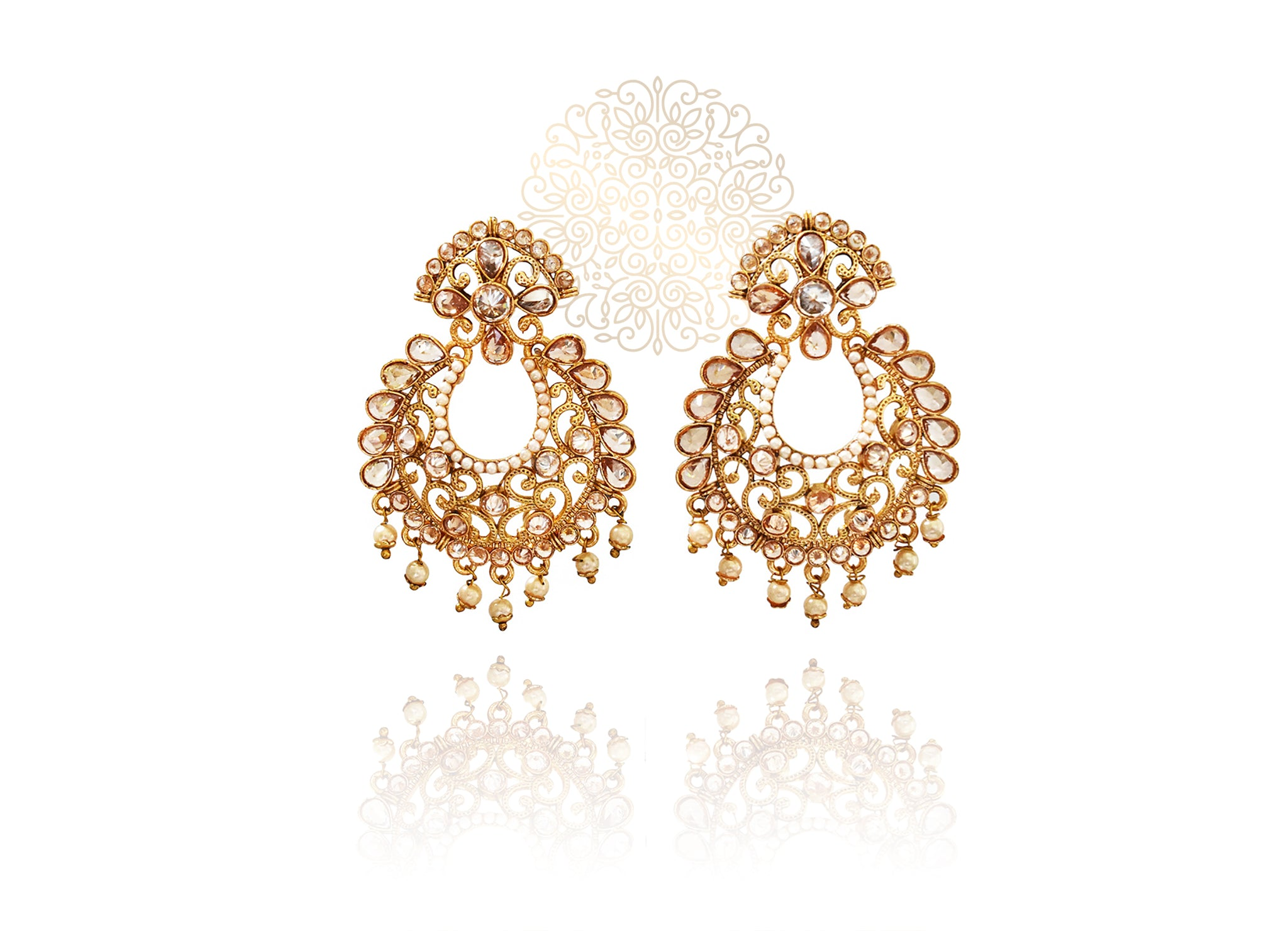 Jazmin Polki Earrings - The Pashm