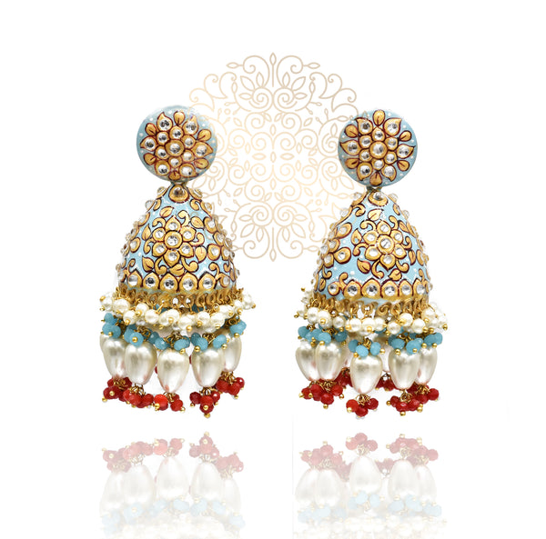 Anusha Meenakari Earrings - The Pashm