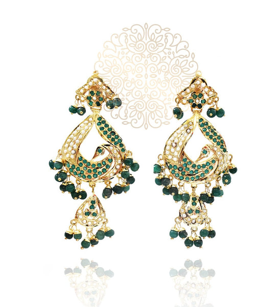 Anisah Jadau Tikka Earrings Traditional Set - The Pashm